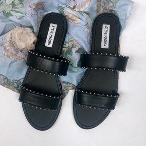 Steve Madden Black Studded Lola Slide Sandals